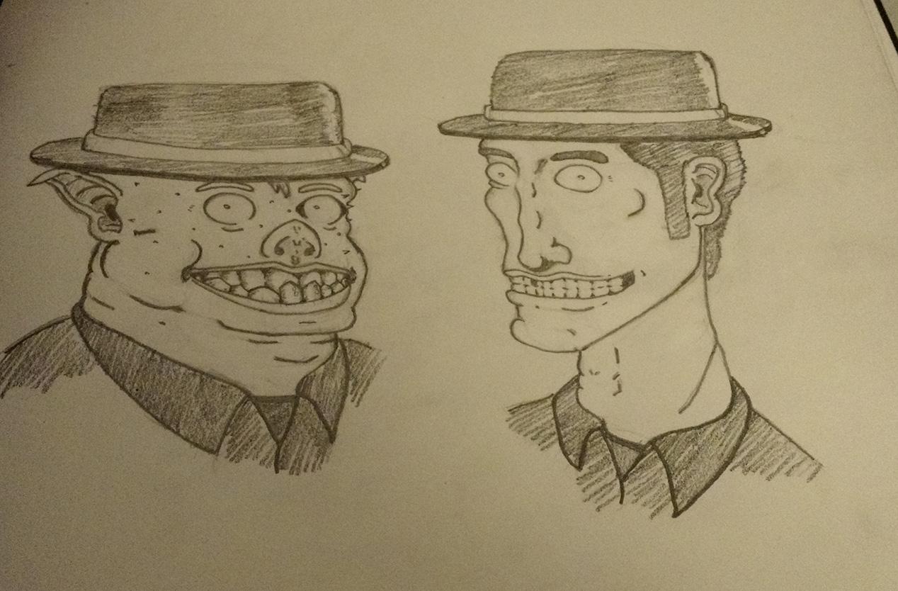 Vorte and Fusk, heads